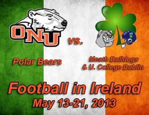 Ohio Northern Heads To Ireland With Global Football