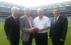 Global Football President Returns From Dublin Announcement of Croke Park Classic