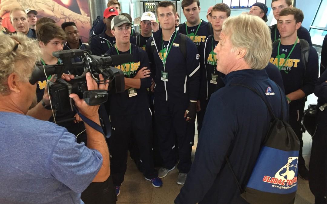 High School Teams Arrive In Ireland